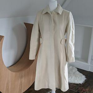 Via Spiga white coat sz 6